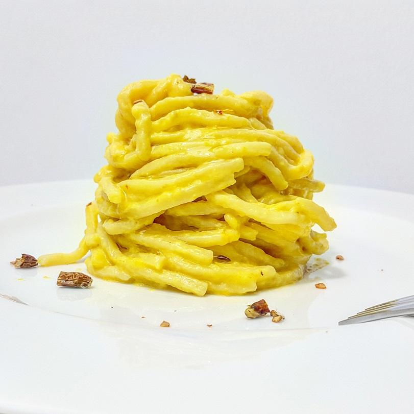 Troccoli in Crema di Peperoni